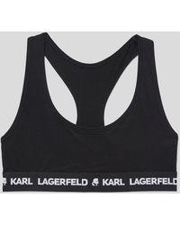 Karl Lagerfeld Logo Sports Bra - Black