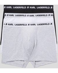Karl Lagerfeld Logo Trunks 3-pack - Multicolour