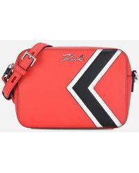 Karl Lagerfeld - K/stripes Leather Camera Bag - Lyst