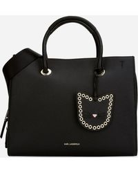 UNISEX - K/Ikonik Nylon and Leather Backpack Karl Lagerfeld 33ZsBnpG