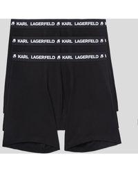 Karl Lagerfeld Logo Boxers 3-pack - Black