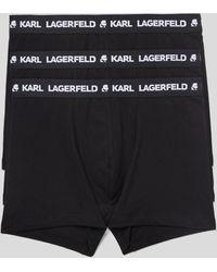 Karl Lagerfeld Logo Trunks 3-pack - Black