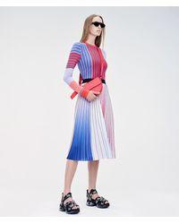 Karl Lagerfeld Pleated Rainbow Skirt - Multicolor
