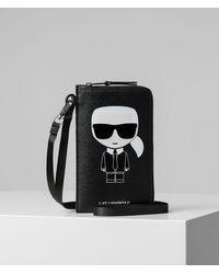 Karl Lagerfeld Étui pour iPhone K/Ikonik - Noir