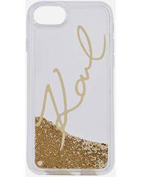 Karl Lagerfeld - Liquid Glitter Signature Gold - Lyst