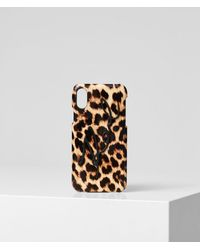 Karl Lagerfeld - K/signature Leopard Iphone X/xs Cover - Lyst