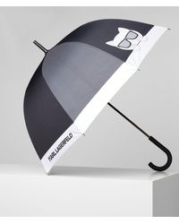 Karl Lagerfeld K/ikonik Large Umbrella - Black