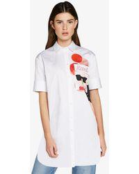 Karl Lagerfeld - Printed Cotton Tunic Shirt - Lyst