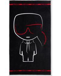 Karl Lagerfeld K/ikonik Beach Towel - Black