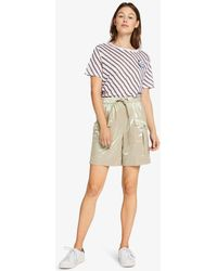 Karl Lagerfeld Drawstring Metallic Short - Natural