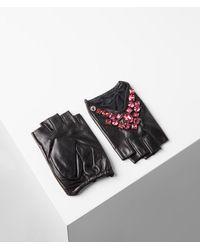 Karl Lagerfeld Geostone Triangle Gloves - Multicolour