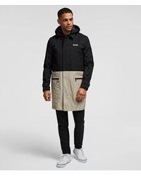 Karl Lagerfeld Two-tone Coat - Black