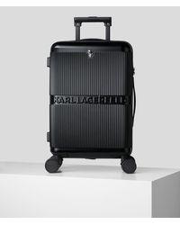 Karl Lagerfeld K/ikonik Hard Shell Trolley Case - Black