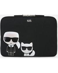 Karl Lagerfeld Unisex - K/ikonik Laptop Sleeve - Black
