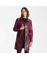 Karl Lagerfeld Crackle Faux Leather Topper - Red