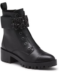 Karl Lagerfeld Pippa Lace Up Boot - Black