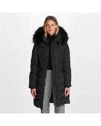 Karl Lagerfeld Double Zipper Long Puffer - Black