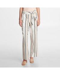 Karl Lagerfeld Stripe Linen Pants - White