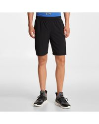 Karl Lagerfeld Perforated Side Reflective Shorts - Black