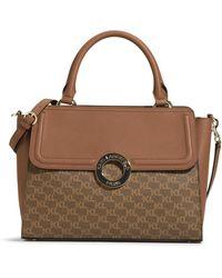 Karl Lagerfeld Clarise Monogram Satchel Bag - Brown