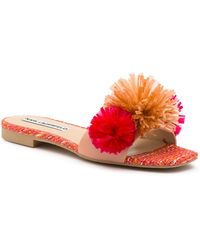 Karl Lagerfeld Blush Rainey Pom-pom Slide Sandals - Multicolor