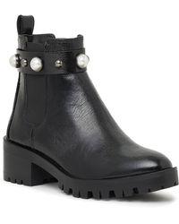Karl Lagerfeld Pola Crinkle Studded Bootie - Black