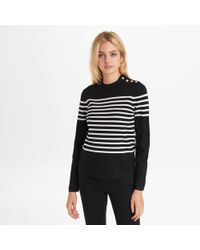 115ff6b735e6 Lyst - Forever 21 Rugby Stripe Sweater in Red