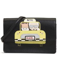 Karl Lagerfeld Maybelle Taxi Crossbody - Black