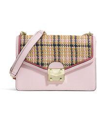 Karl Lagerfeld Corinne Straw Flap Shoulder Bag - Multicolor