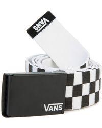 1eada3e856 Vans - The Men s Long Depster Web Belt In Black And White Check - Lyst