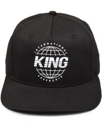 3f6a04a79 Lyst - KING LONDON Plaistow Pinch Panel Snapback Oxblood in Red for Men