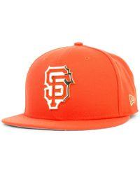 KTZ. San Francisco Giants Team Front Trucker 9fifty Snapback Cap.  32.  Macy s · NEW ERA HATS - Men s New Era Cap Metal Frame - Lyst 5d8375acfcdc