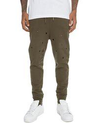 FBRK Men's Distressed sweatpants - Green