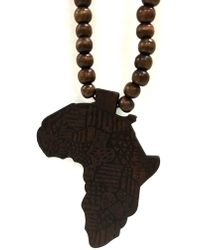 Haste Goods - Dark Brown Africa Necklace - Lyst