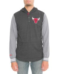 Mitchell   Ness - The Chicago Bulls Mid Season Hoodie In Black - Lyst 8596ae412
