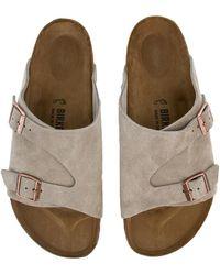 Birkenstock - For Men: Zurich Regular Taupe Sandals - Lyst