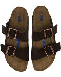 Birkenstock - Narrow Arizona Women's Mocha Sandal - Lyst