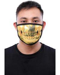 Hudson Jeans Gold Teeth Face Mask - Metallic