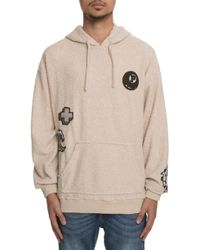 Pink Dolphin The Boucle Pullover Hoodie In Creme - Natural