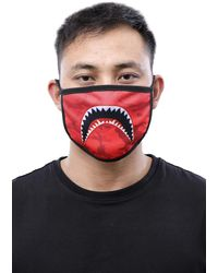 Hudson Jeans Shark Mouth Face Mask - Red