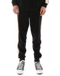 Kappa Logo Tape Aniradi Sweatpants - Black