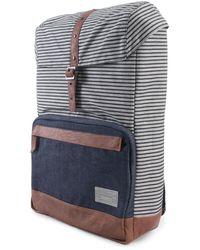 Hex The Coast Backpack In Stinson Stripe And Denim - Blue