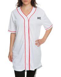 NANA JUDY The Serenade Baseball Jersey In White