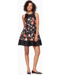 be3bff2dea36 Kate Spade Open Back Silk Mini Dress in Red - Lyst