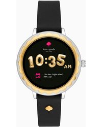 Kate Spade - Black Silicone Touchscreen Smartwatch - Lyst