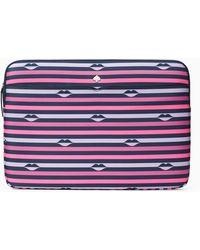 Kate Spade Jae Lip Print Laptop Sleeve - Pink