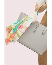Kate Spade Tropical Floral Square Scarf - Multicolour