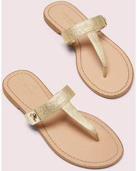 Kate Spade Cyprus Thong Flip Flops - Metallic