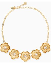 Kate Spade Precious Poppies Necklace - Metallic