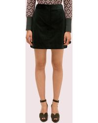 Kate Spade Modern Cord Mini Skirt - Black